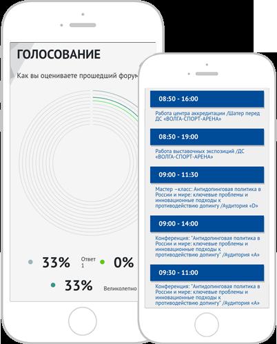 Программа мероприятия и система голосования